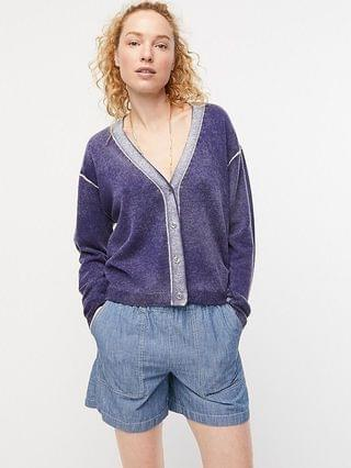 WOMEN Relaxed-fit sunfaded cashmere cardigan sweater