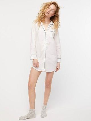 WOMEN End-on-end cotton nightshirt