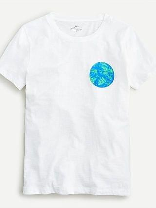 WOMEN Vintage cotton Earth Day T-Shirt