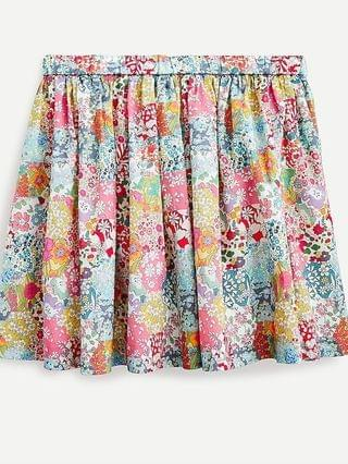 KIDS Girls' pull-on skirt in Liberty Patchwork Dream floral