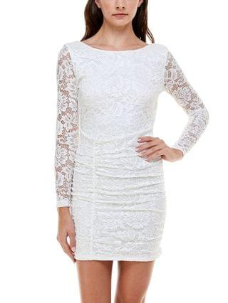 WOMEN Juniors' Open-Back Lace Bodycon Dress