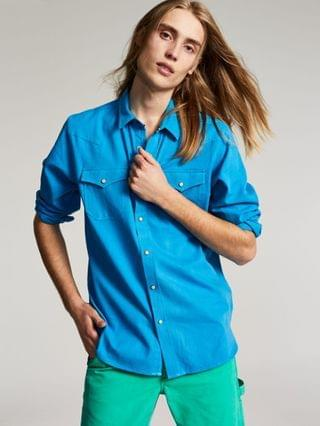 MEN Jacob Regular-Fit Textured Western Shirt Created for Macy's