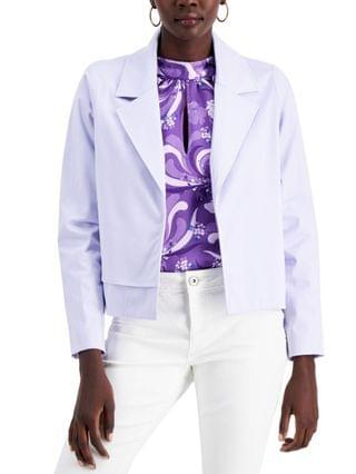 WOMEN Notched Collar Open-Front Jacket Created for Macy's