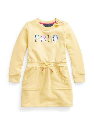KIDS Little Girls Floral-Logo Fleece Dress