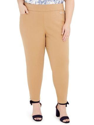 WOMEN Plus Size Gramercy Sateen Ankle Pants Created for Macy's