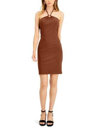 WOMEN Ribbed Bodycon Halter Dress Created for Macy's