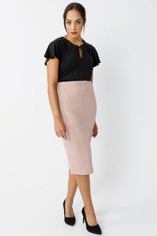 WOMEN Suede Bodycon Skirt
