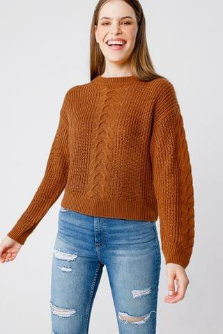 WOMEN Cable Knit Pullover