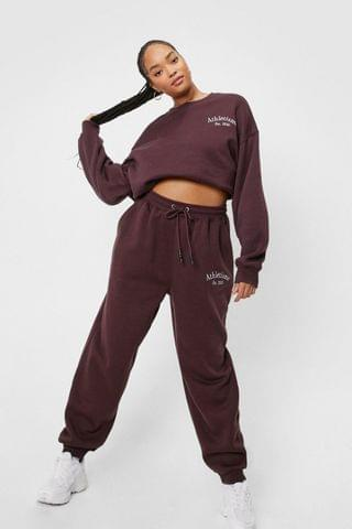WOMEN Plus Size Athletisme Embroidered Joggers