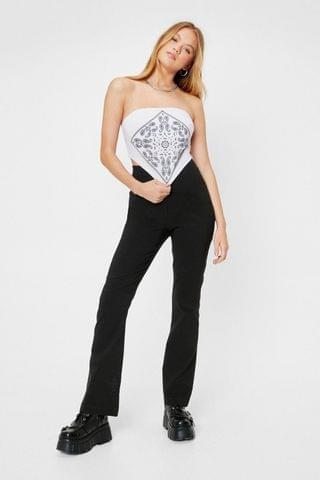 WOMEN High Waisted Tailored Flare Pants