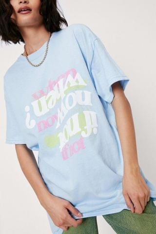 WOMEN If Not Now Crew Neck Graphic T-Shirt