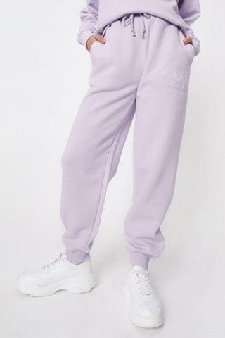 WOMEN Petite Active Society Embroidered Joggers