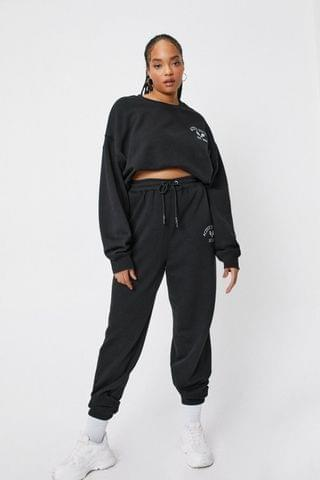 WOMEN Plus Size Active Society Embroidered Joggers