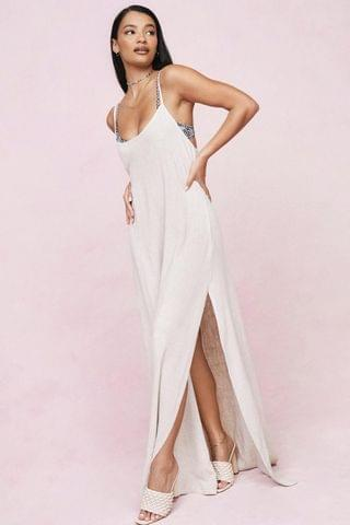 WOMEN Strappy Relaxed Split Front Maxi Cover Up Dress