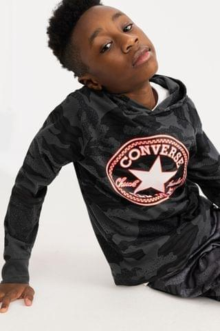 KIDS Converse Camo Long Sleeve Hooded T-Shirt