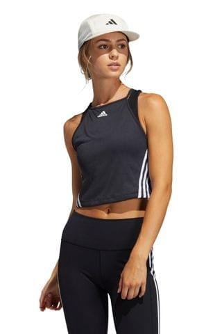 WOMEN adidas 3 Stripe Crop Rib Vest