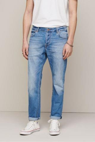MEN Bright Blue Jeans With Stretch