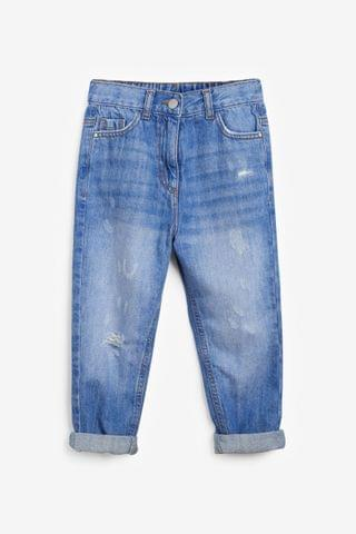 KIDS Bright Blue Mom Jeans (3-16yrs)