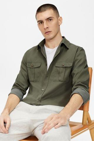 MEN Ted Baker Actor Military Style Shirt