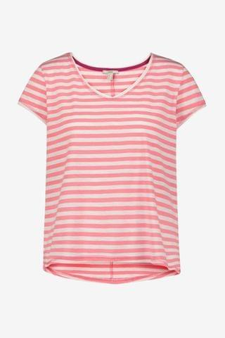 WOMEN Esprit Pink Fashion Stripe T-Shirt