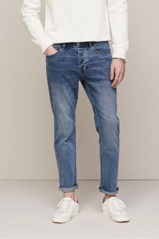 MEN Mid Blue Soft Touch Jeans With TENCEL