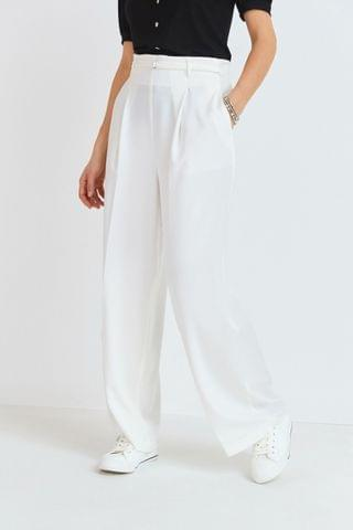WOMEN White Wide Leg Trousers