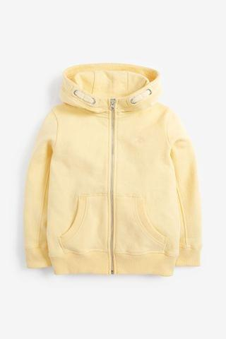 KIDS Yellow Zip Through Hoodie (3-16yrs)