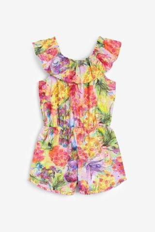 KIDS Multi Pineapple All Over Print Playsuit (3-16yrs)