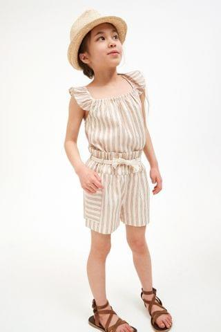 KIDS Stripe Co-ord Top And Shorts (3-16yrs)