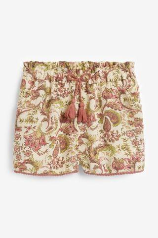 KIDS Paisley Pattern Tassel Hem Shorts (3-16yrs)