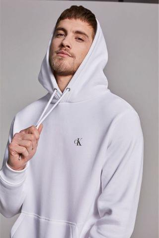 MEN Calvin Klein Jeans White New Iconic Essential Hoodie