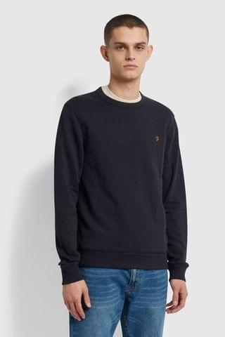 MEN Farah Blue Tim Crew Sweater