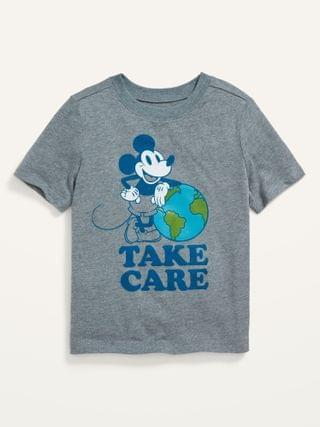 KIDS Disney Mickey Mouse Earth Day Matching Graphic Tee for Toddler Boys