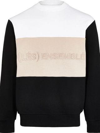 MEN Big & Tall white 'Les Ensemble' sweatshirt