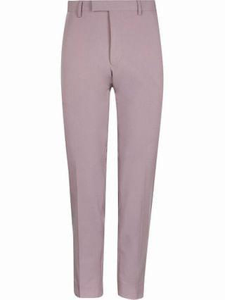 MEN Purple skinny fit suit trousers