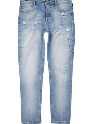 MEN Blue Dylan ripped slim fit jeans