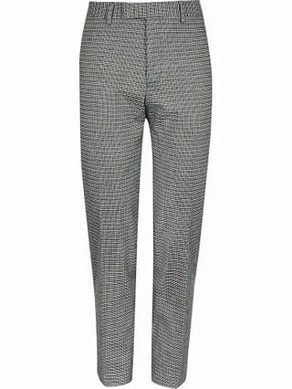 MEN Grey check skinny fit suit trousers