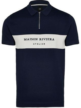 MEN Maison Riviera navy polo shirt
