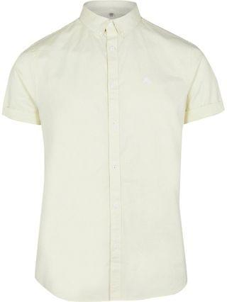 MEN Maison Riviera yellow short sleeve shirt