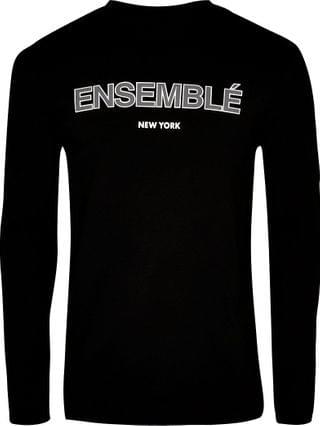 MEN Black 'Ensemble' long sleeve t-shirt