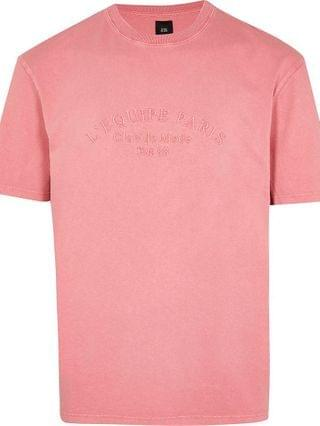 MEN Pink washed L'equipe Paris t-shirt
