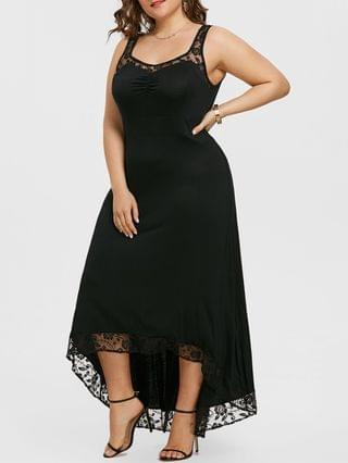 WOMEN Plus Size High Low Maxi Party Dress
