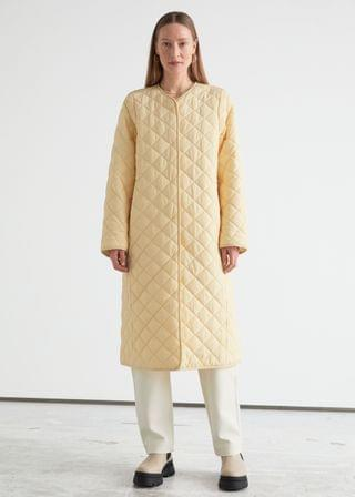 WOMEN Quilted Banana Sleeve Coat