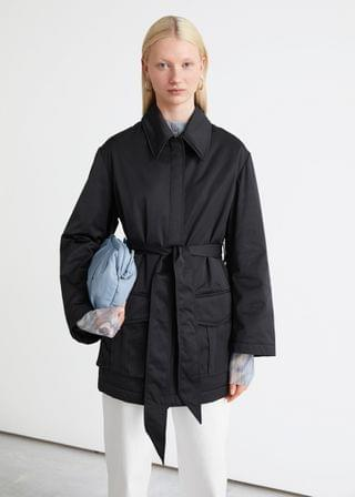 WOMEN Short Technical Trench Coat