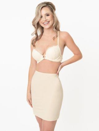 WOMEN Beige Fitted Half Slip Skirt