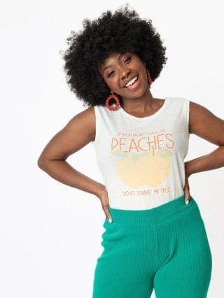 WOMEN If You Dont Like My Peaches Casual Muscle Tee