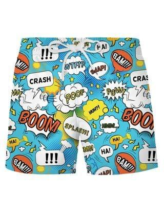 MEN Graphic Pop Art Casual Shorts - Day Sky Blue Xl