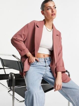 WOMEN River Island oversized blazer in pink - part of a set