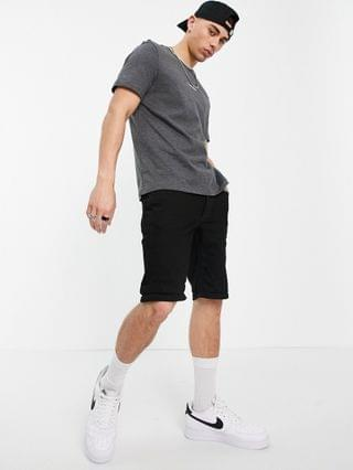 Calvin Klein central front small logo t-shirt in gray