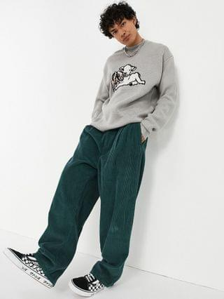 Vintage Supply knit animal sweater in gray